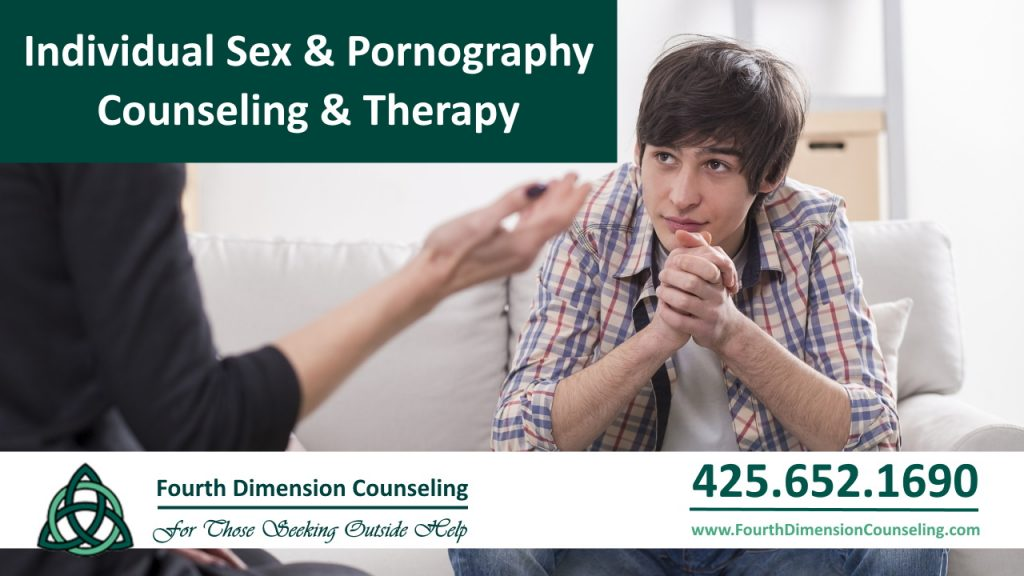 Young man at counselor office for professional sex and pornography counseling, therapy and coaching in Seattle