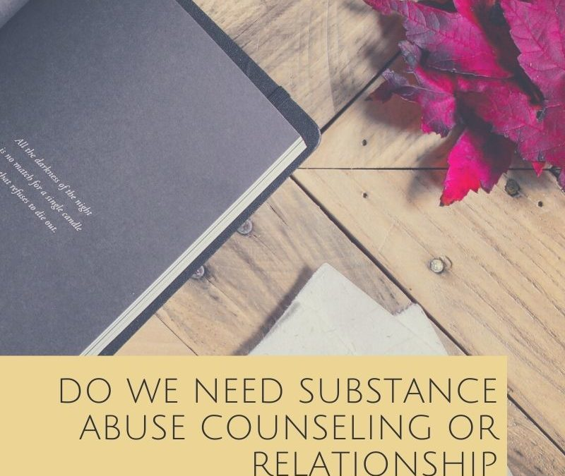 Do We Need Substance Abuse Counseling or Relationship Counseling?